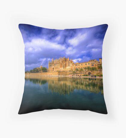 Cathedral of Santa Maria of Palma Throw Pillow