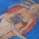 Lovers in Blue Ocean by Anthea  Slade