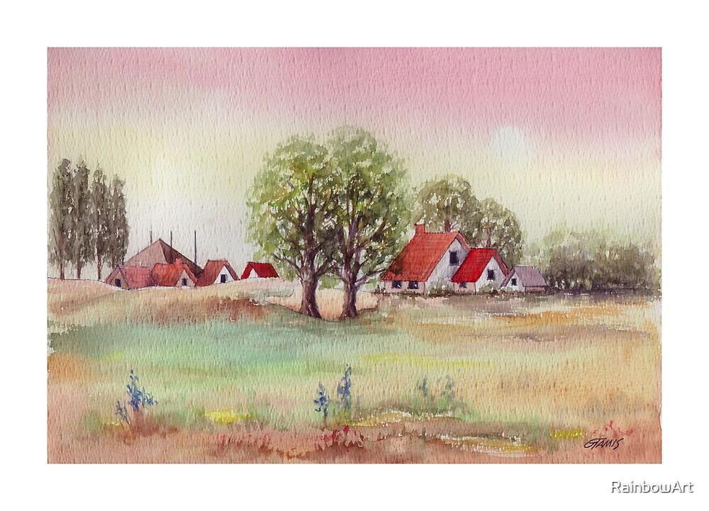 SUMMER MORNING - AQUAREL by RainbowArt