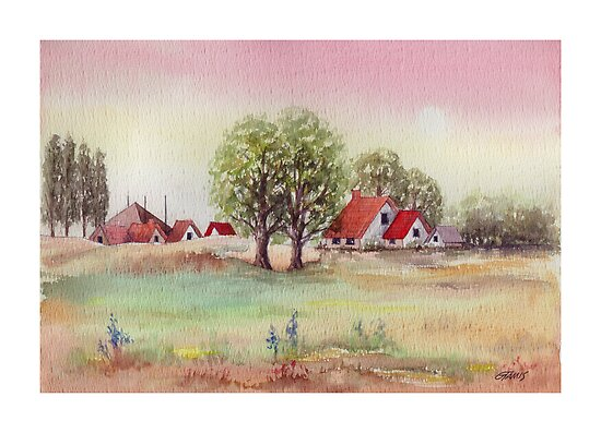 SUMMER MORNING - AQUAREL by RainbowArt