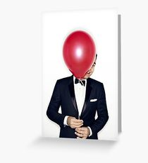 Jimmy Fallon with Red Balloon Greeting Card
