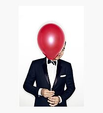 Jimmy Fallon with Red Balloon Photographic Print