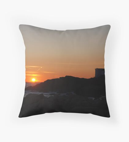 Eastern Point Sunset - Gloucester, Massachusetts Throw Pillow