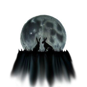 Moongazers Cutout by dapplegreyart