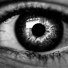 I'm Watching You- Black and White by Reza Gorji Hassani