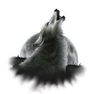 Wolf Cut out by dapplegreyart