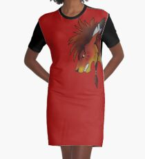 Red XIII Graphic T-Shirt Dress