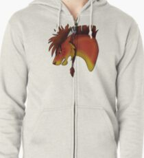 Red XIII Zipped Hoodie