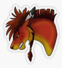 Red XIII Transparent Sticker