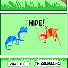 The colorblind chameleon by martoon