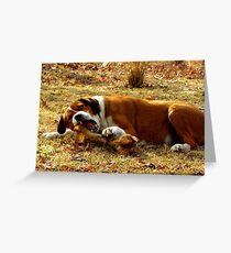 Giv'a Dog A Bone?  Now THATS What Ya Call A Bone!!! Greeting Card