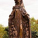 Modern version of the Madonna of Ravensburg by Elzbieta Fazel