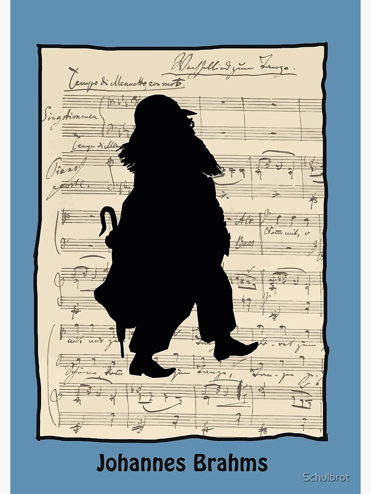 Johannes Brahms, silhouette by Schulbrot