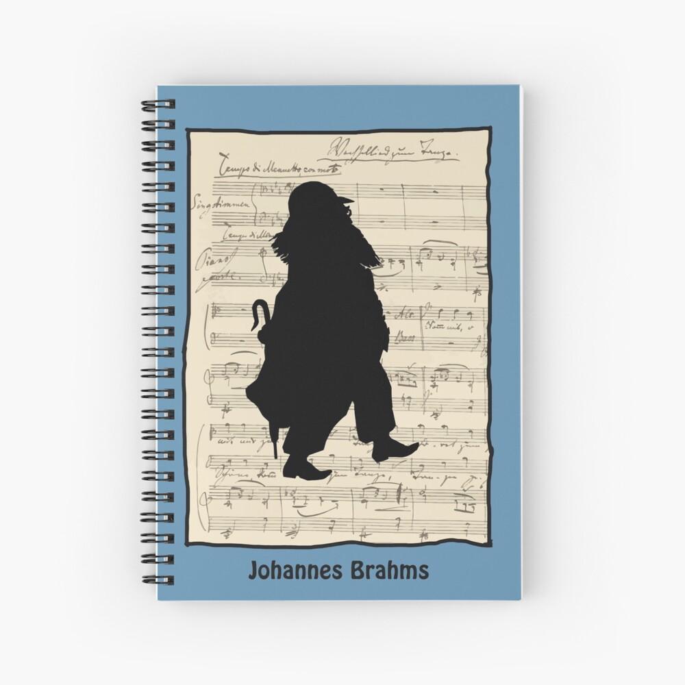 Johannes Brahms, silhouette Spiral Notebook