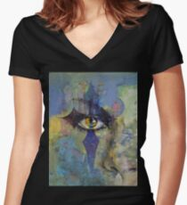 Gothic Art Women's Fitted V-Neck T-Shirt