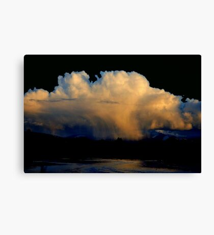 CLOUD BURST SUNSET Canvas Print