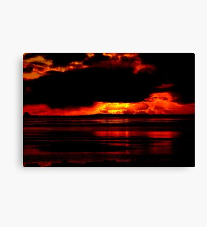 FIRE IN THE SKY Canvas Print