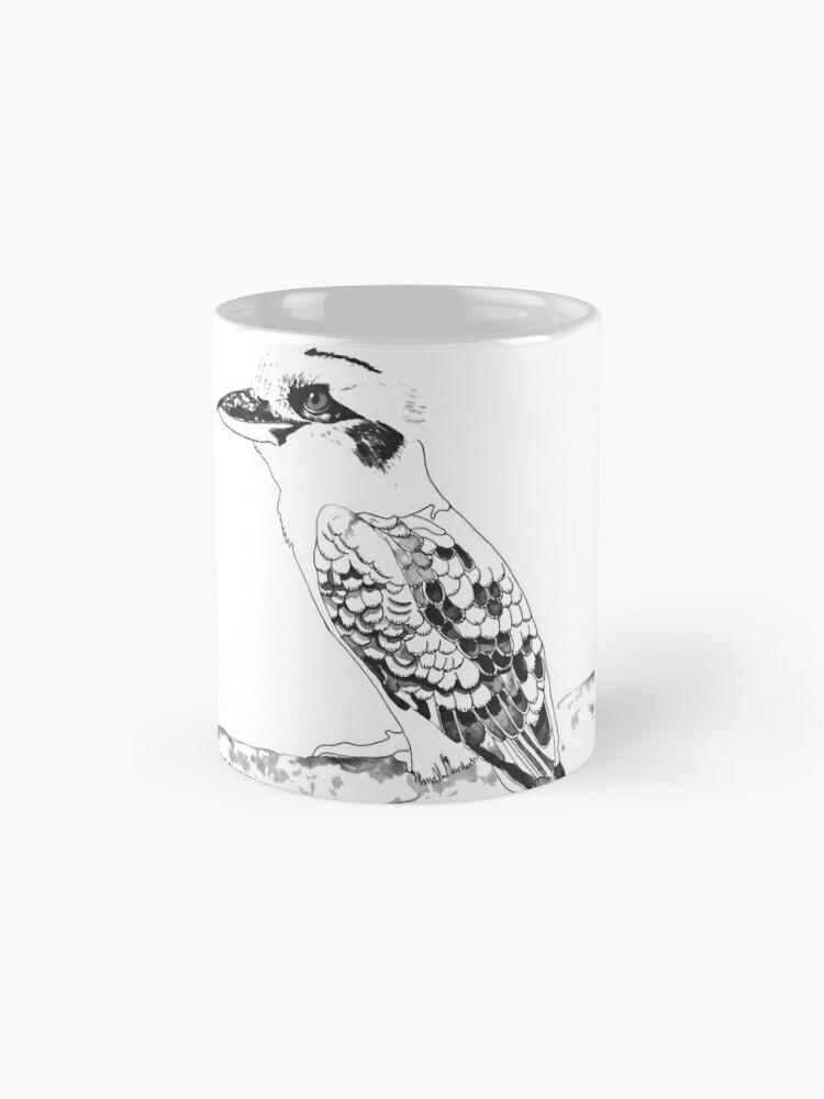 Alternate view of Kookaburra Black and White Mug