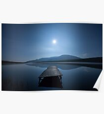 Moon over Lough Aubha Poster