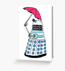 Pink Umbrella Greeting Card