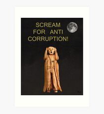 Scream For Anti Corruption Art Print