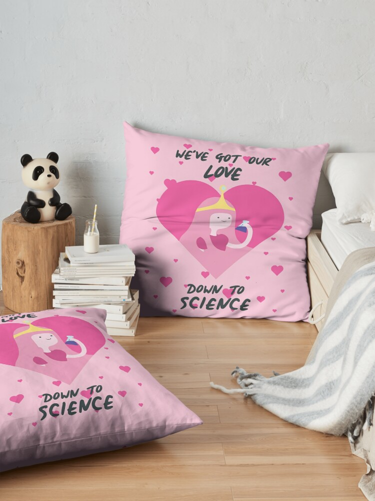 Alternate view of We've Got Our Love Down To Science (Adventure Time) Floor Pillow