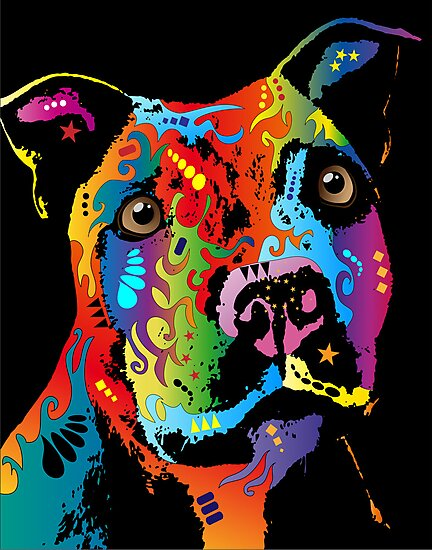 Staffordshire Bull Terrier by Michael Tompsett