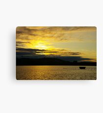 Pure Gold Over Lake Burley Griffin  Canvas Print