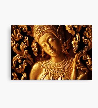Gold Relief Canvas Print