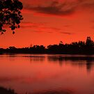 Lake Weeroona, Evening Still. by Lozzar Landscape