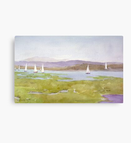 Racing down the Solent Canvas Print