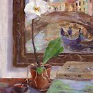 An orchid in Venice by Peter Lusby Taylor