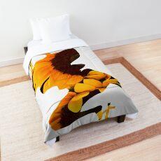 Champloo Sunflower Samurai Flower Silhouette  Comforter