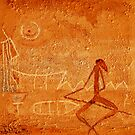 Prehistoric boat trip - rock painting by Marlies Odehnal