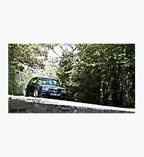 Mk3 Golf In The Trees Photographic Print