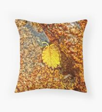 Premature Autumn Aspen Leaf Throw Pillow