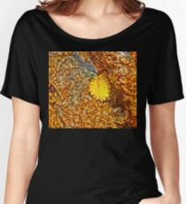 Premature Autumn Aspen Leaf Women's Relaxed Fit T-Shirt