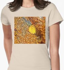 Premature Autumn Aspen Leaf Womens Fitted T-Shirt