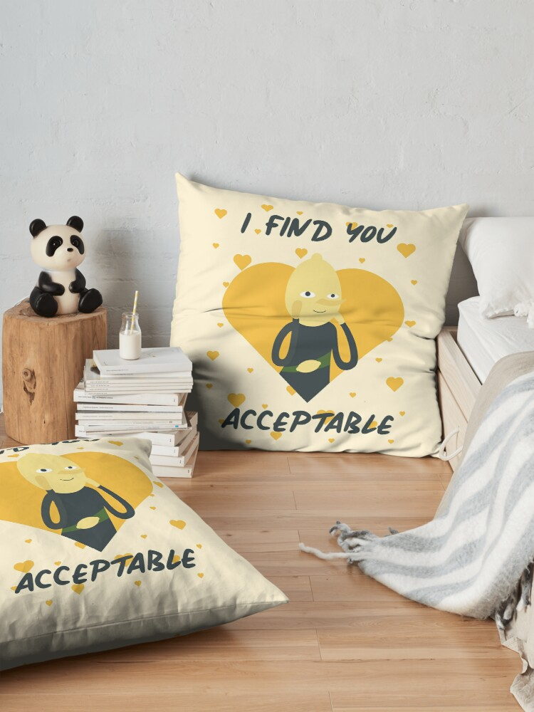 Alternate view of I Find You Acceptable (Adventure Time) Floor Pillow