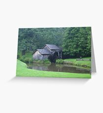 Blue Ridge Parkway's-Mabry Mill Greeting Card