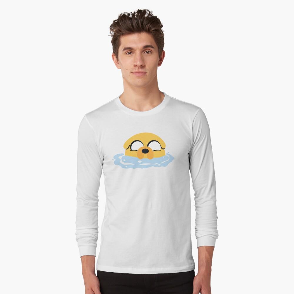Baño de burbujas Jake (Hora de aventura) Camiseta de manga larga