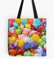 Rainbow Rubber Ducks Tote Bag
