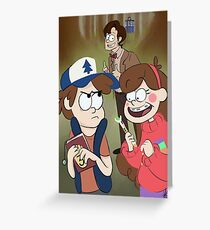 Gravity Falls X Doctor Who Greeting Card