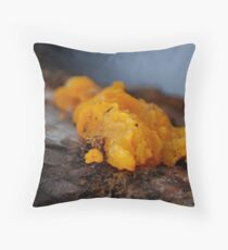 """ Mandrin Orange "" Fungus Throw Pillow"