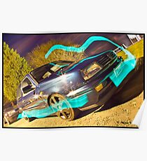 MK3 Golf VR6 Light Painting Poster