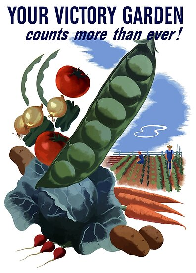 Your Victory Garden Counts More Than Ever -- WWII by warishellstore