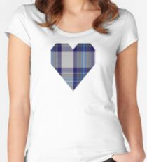 00459 Blue Dunnett Tartan  Women's Fitted Scoop T-Shirt