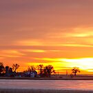 Country Farm Union Reservoir Colorful Sunrise Longmont Colorado by Bo Insogna