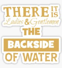 There It Is Ladies and Gentlemen The Backside of Water Sticker