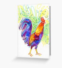 Rooster drawing - 2011 Greeting Card